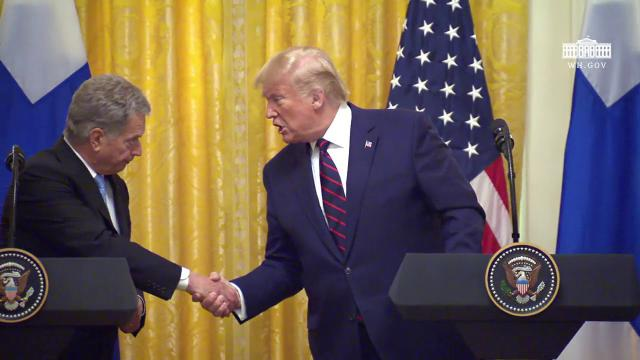 President Trump Participates in a Joint Press Conference with the President of Finland