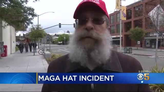Woman With Mohawk Tries To Harass Man In MAGA Hat, Pays The Price