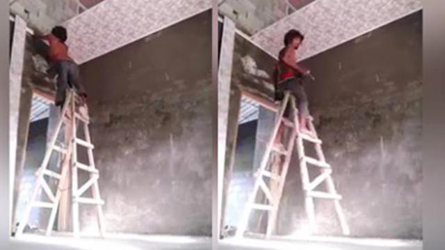 Incredible advanced technique of this bricklayer goes viral on social media