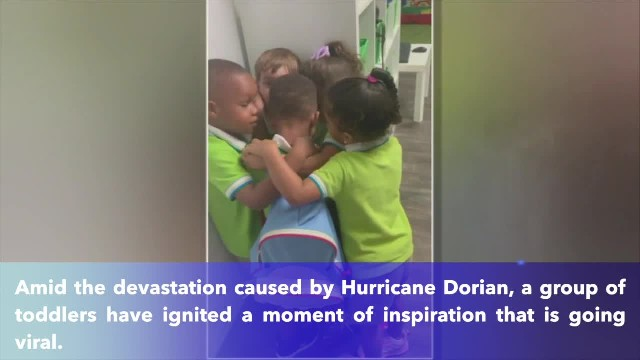 Viral moment- 3-year-old who survived Hurricane Dorian embraced by classmates