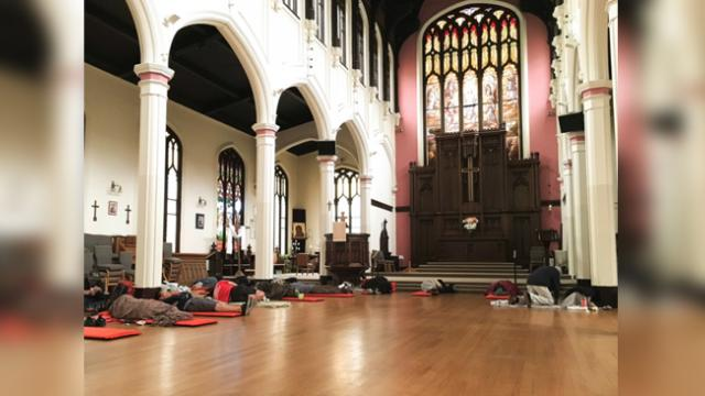 This church lets 225 homeless people sleep inside every night