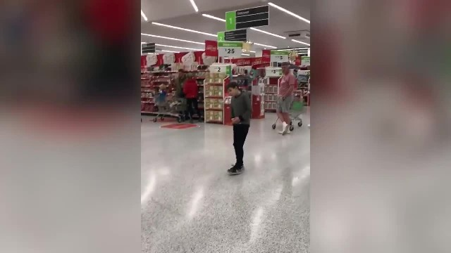 10-Year-Old Boy Belts Out Song Inside Grocery Store