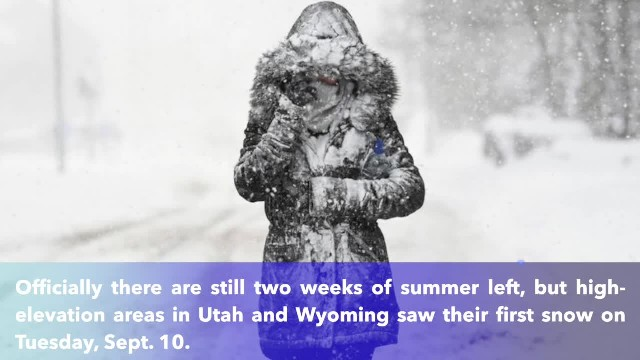 Snow is falling in Utah and Wyoming! Despite summer