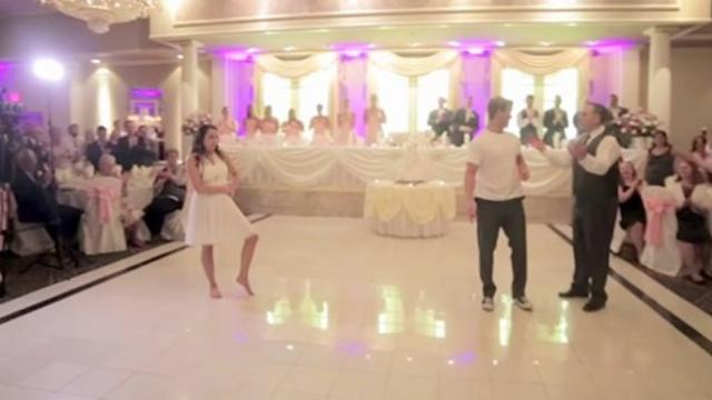 Their first dance was epic, but when Dad cut in he shocked the entire crowd
