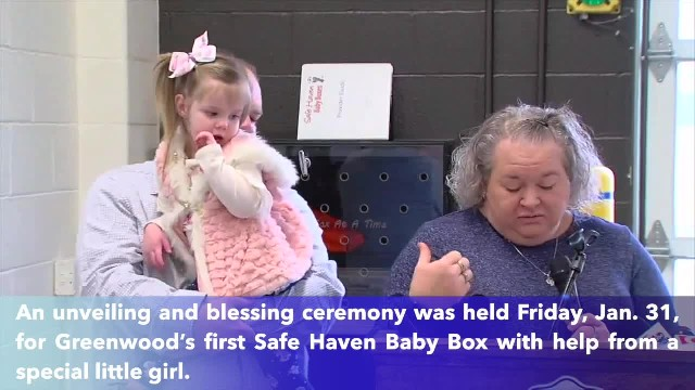 Indiana's first baby left in Safe Haven Baby Box helps unveil new box in Greenwood