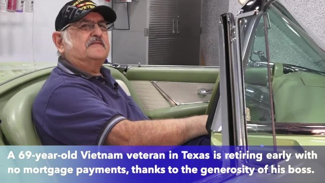 Texas boss pays off employee's mortgage, allowing Vietnam veteran to retire early