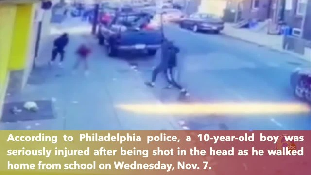 10-year-old boy shot in head while walking home from school in Philadelphia