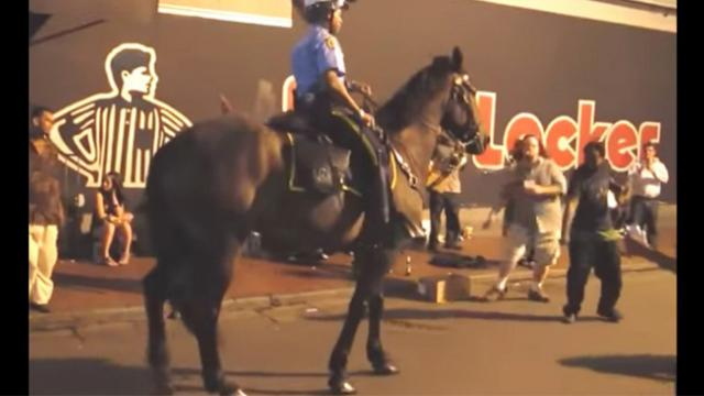 Cop approaches men on streets, then horse hears favorite song