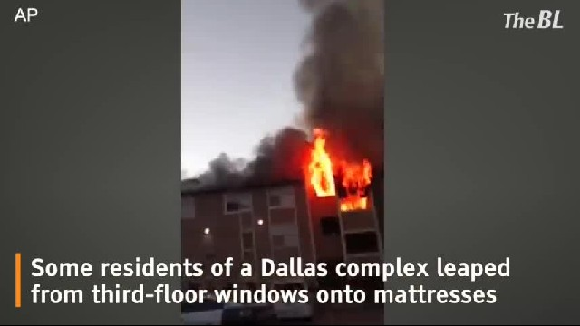 Dallas apartment fire forces residents to jump