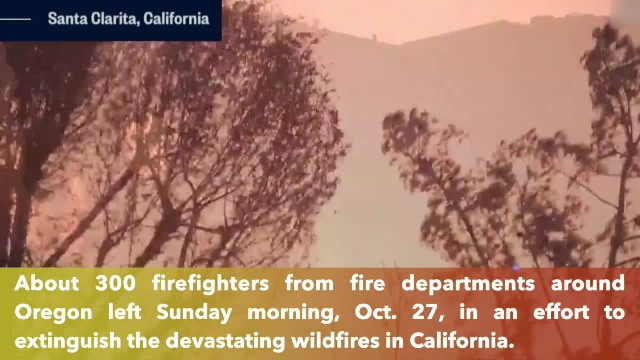 300 Oregon firefighters left to California to help battle devastaing Kincade Fire