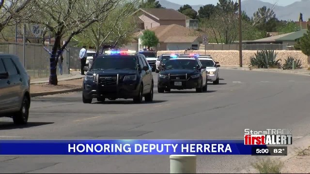 Police officers escort daughter of fallen deputy to school: 'we will never forget'