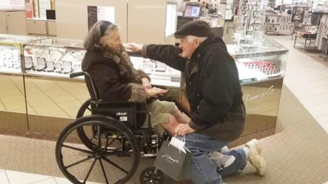 Loving husband proposes to sick wife again after 63 years of marriage