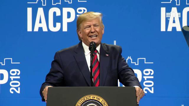 President Trump Speaks at the International Association of Chiefs of Police Annual Conference