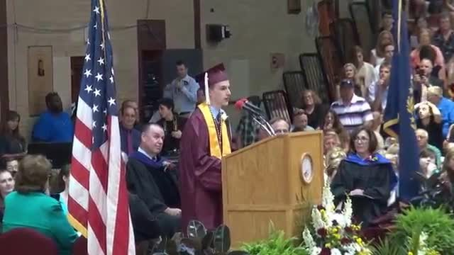 This grad only spoke 3 words – but it caused an eruption that put the crowd in total shock.