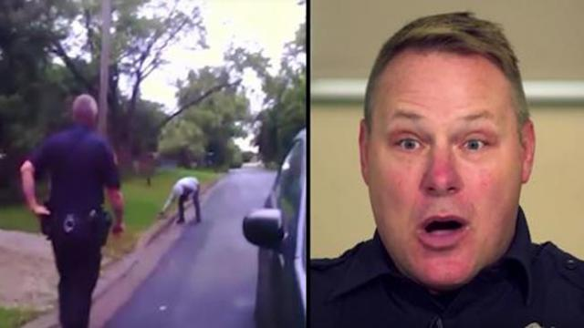Cops suspicious of pulled over car only to walk up to freakish crisis making their eyes pop