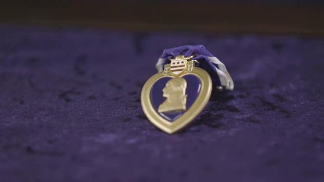 First Lady Melania Trump Presents the Purple Heart