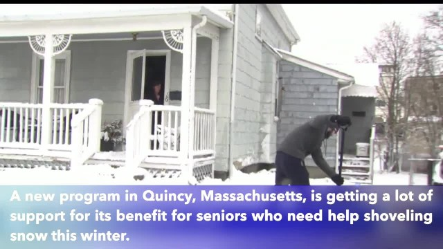 Seniors Helping Seniors, Massachusetts students help seniors dig out from storm