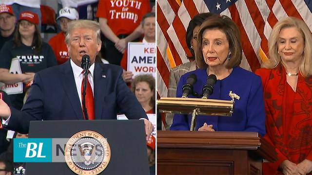 Trump touts signing of USMCA great for America says Pelosi signed because dems are embarrassed