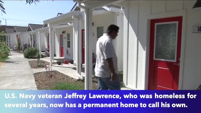 A village in Santa Rosa, California, provides housing for homeless veterans