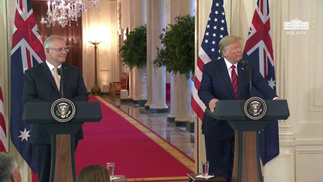 President Trump Participates in a Joint Press Availability with the Prime Minister of Australia