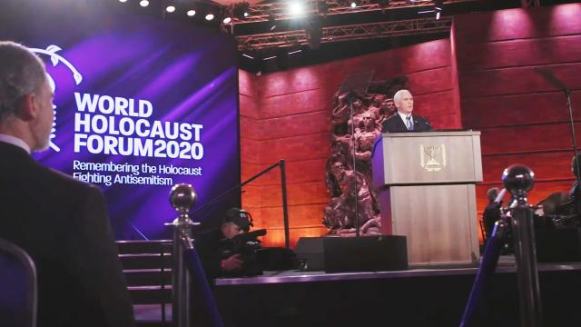 Vice President Pence attends the 2020 world holocaust forum