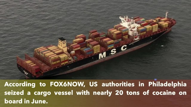Cargo ship owned by JPMorgan Chase seized by the United States with 20 tons of cocaine
