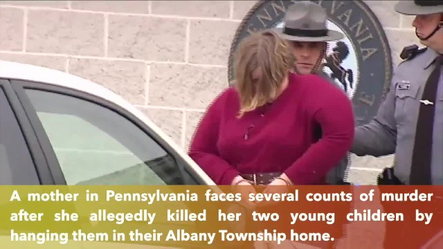 Pennsylvania mother charged with murder in hanging deaths of two children