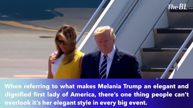 Melania Trump let out her elegant sense of style among notable dignitaries attended the G-7 summit