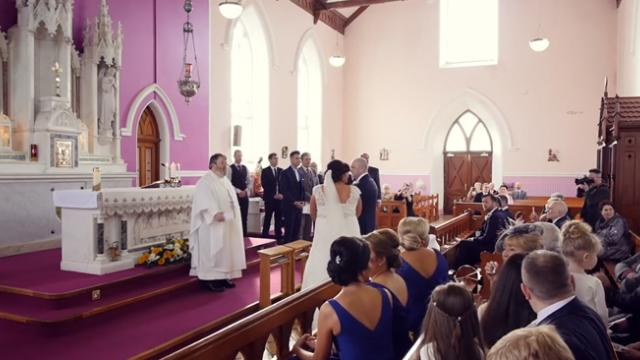 Wedding ceremony interrupted by voice from the back – bride turns around and can't help but sob