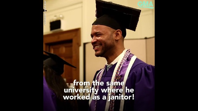 Man graduates with nursing degree from university where he was once a janitor: 'I never gave up'