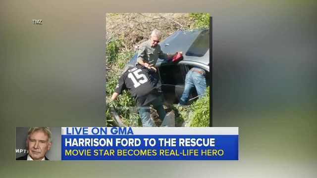 Harrison Ford Becomes Real-Life Hero When He Jumps In To Rescue Car Crash Victim