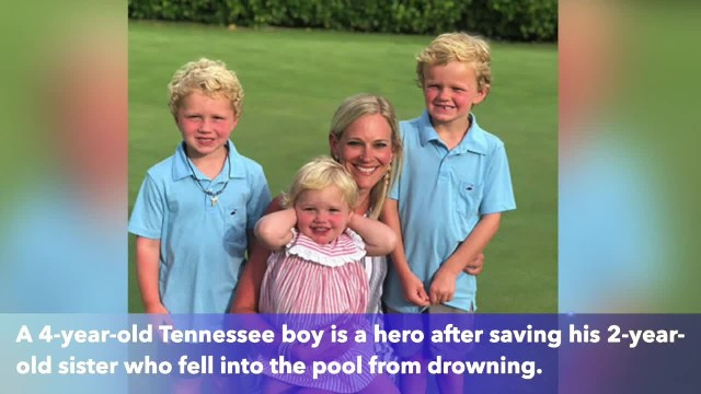 4-year-old Tennessee hero boy saved his little sister from drowning