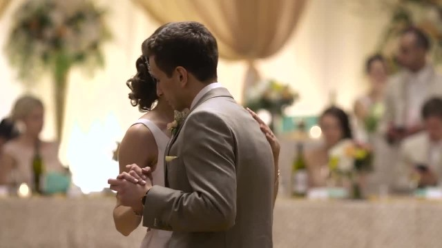 Music stops abruptly as bride and groom ambush guests with maneuver that leaves hearts racing