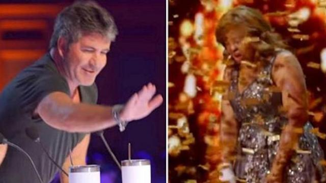 """I Love Her So Much"" as Simon slams the golden buzzer for one of his favorite singers of all time"