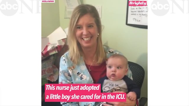 Nurse adopts sweet baby she cared for in intensive care unit