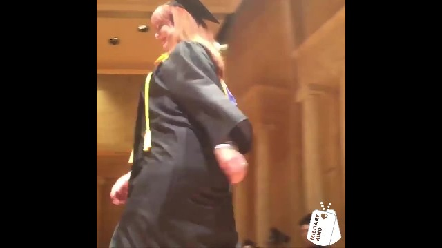 Active-Duty Sons Surprise Mom At Her Graduation & The Crowd Loses It