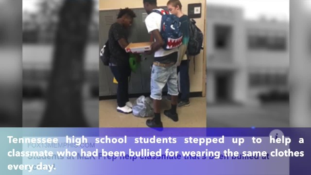 Tennessee high school students help classmate that's been bullied at school