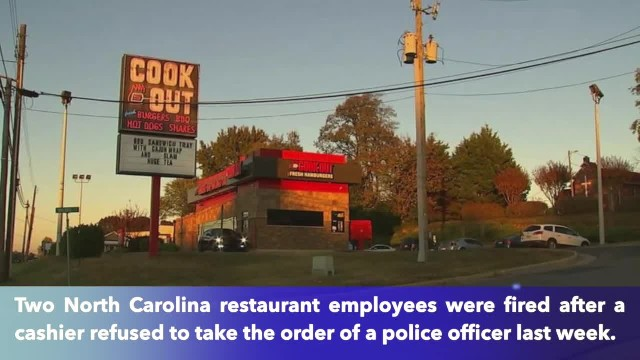 North Carolina restaurant fires two employees who refused to serve officer