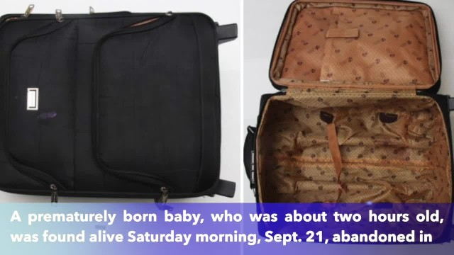 Hours-old baby found abandoned in suitcase in Texas apartment complex's trash compactor