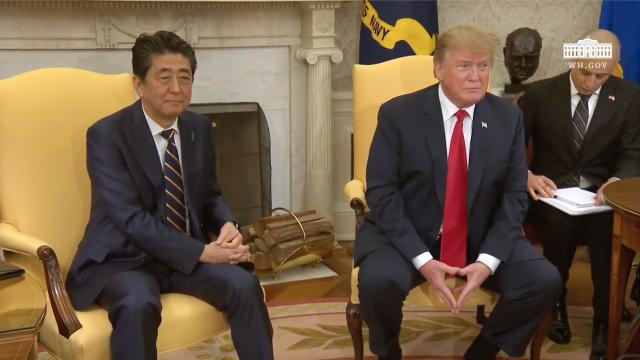 President Trump Meets with the Prime Minister of Japan