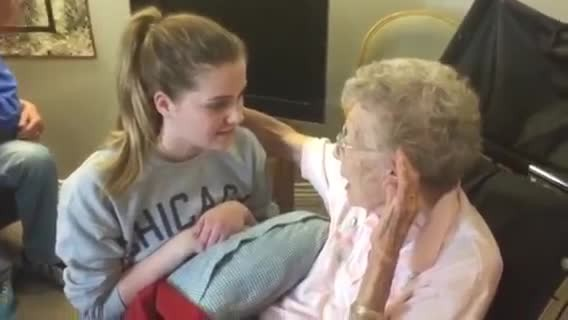 "Young Girl Sings A Beautiful Rendition Of ""How Great Thou Art"" For Her Great-Grandmother"