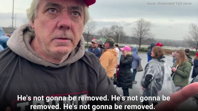 CBS airs video of Trump supporters saying they would fight back in his defense if President is remov