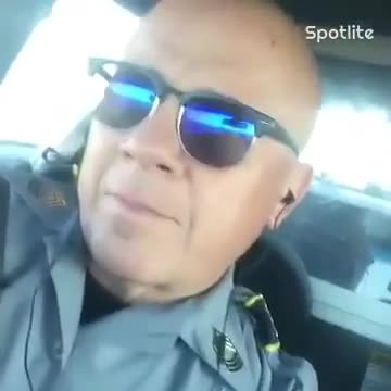 Cop Sets Up Camera To Film Himself In His Car And Everyone's Jaws Drop As Soon As He Starts To Sing