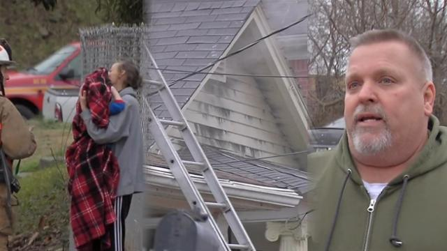 Couple credited with saving Louisville family from New Year's Day housefire