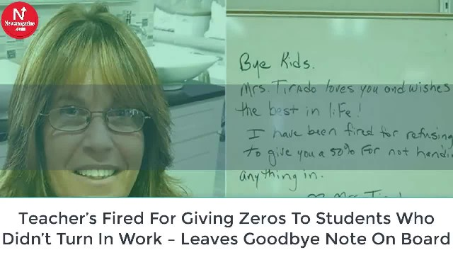 Teacher Claims She Was Fired For Giving Out Zeros To Students Who Didn't Turn In Their Work