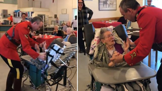 100-year-old grandma's wish to dance with a mountie comes true