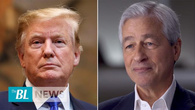 Trump takes a bow after '60 Minutes' interview of CEO for JP Morgan