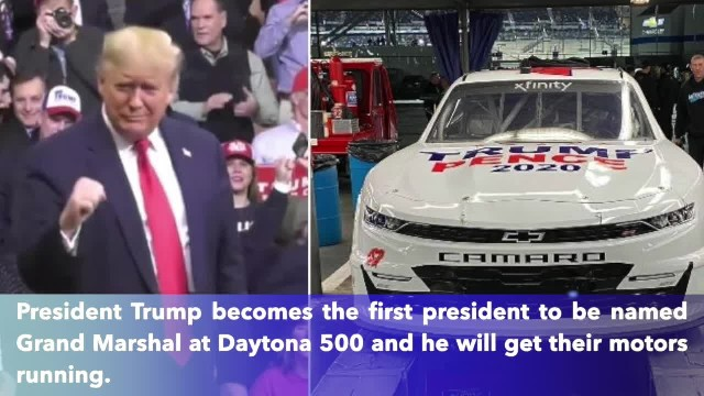 President Trump becomes first president to be named Grand Marshal at Dayton 500