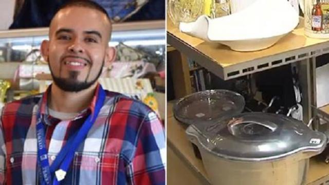 Goodwill employee finds $46,000 hidden in donated fryer and tracks the owner