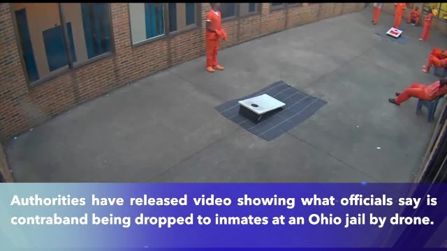 Video shows drone dropping drugs, cell phone into Ohio jail